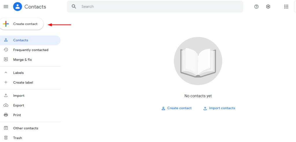 create a google contact