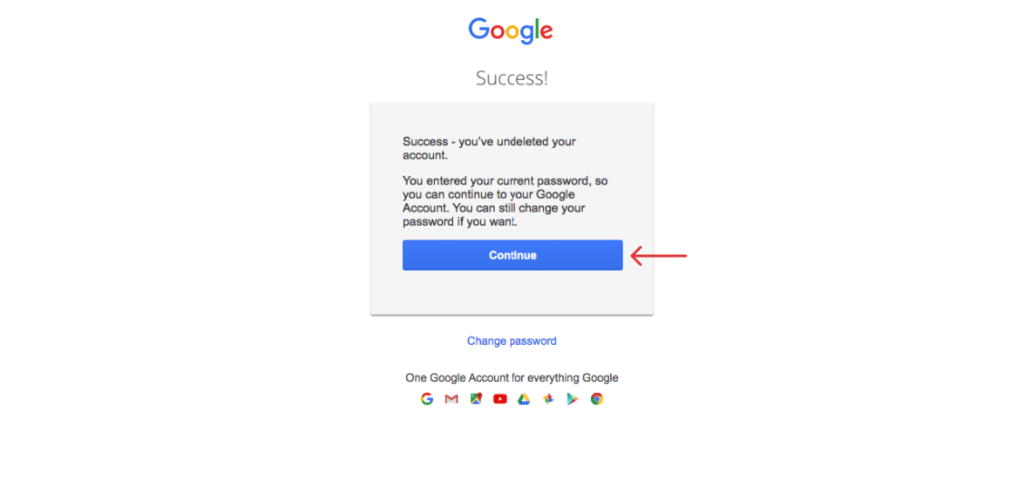 if password is correct, you'll have your account back