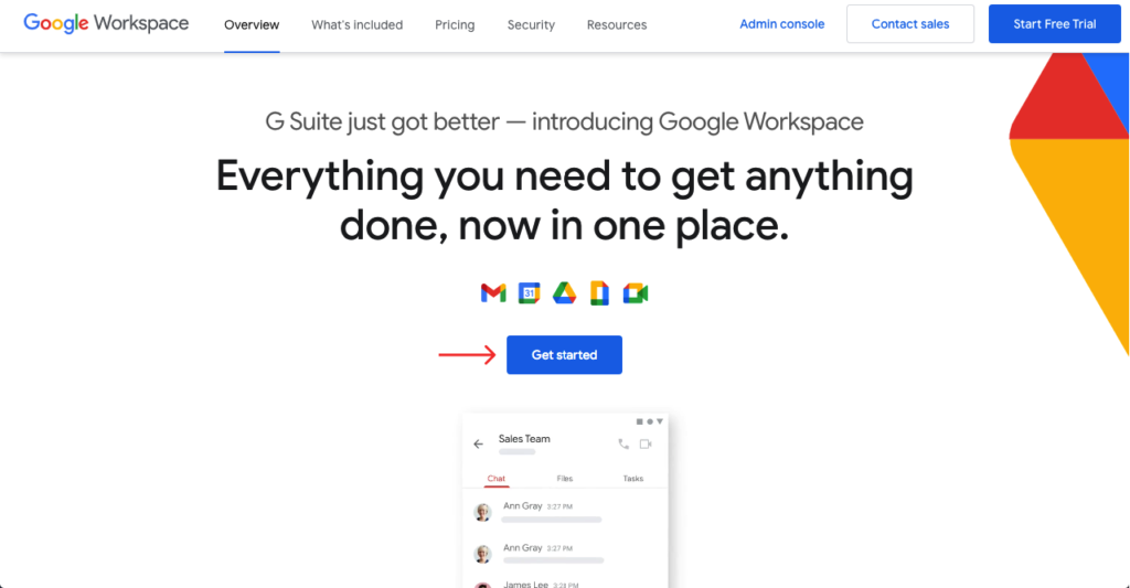 Get started with G suite account
