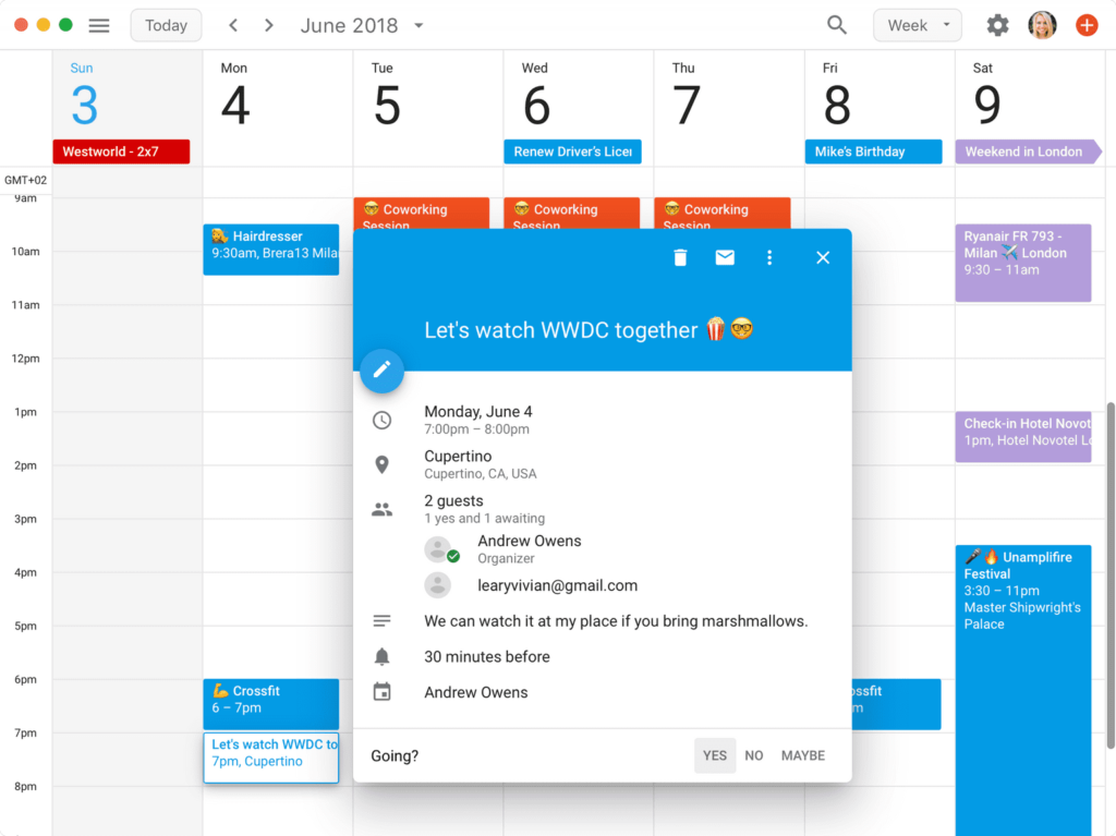 Boxysuite Sync with Google Calendar