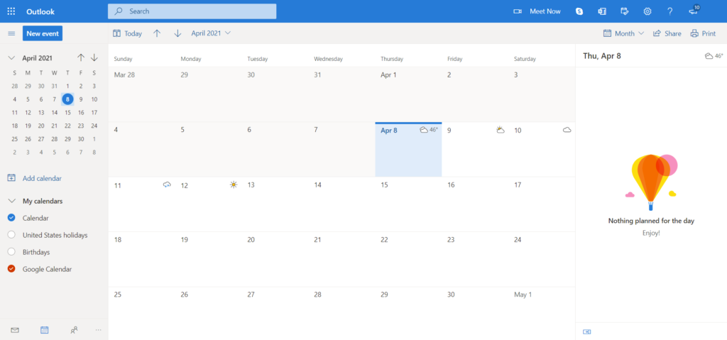 Office365 Sync with Google Calendar