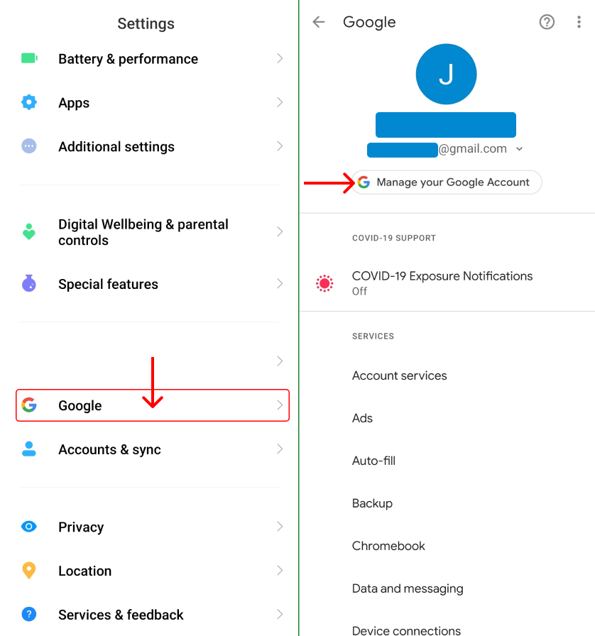 Change Your Gmail Password on Android