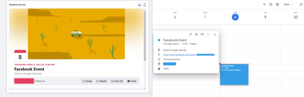 Facebook Sync with Google Calendar