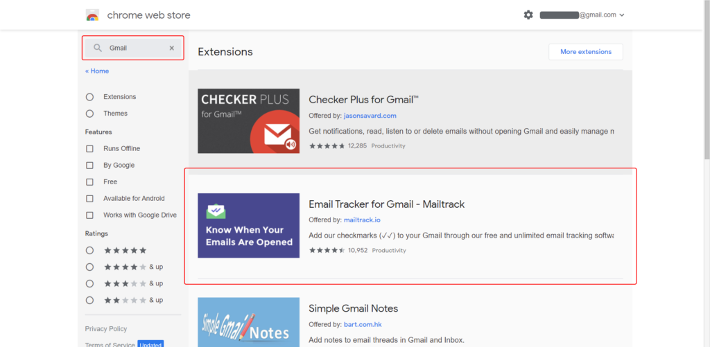3rd party gmail extensions