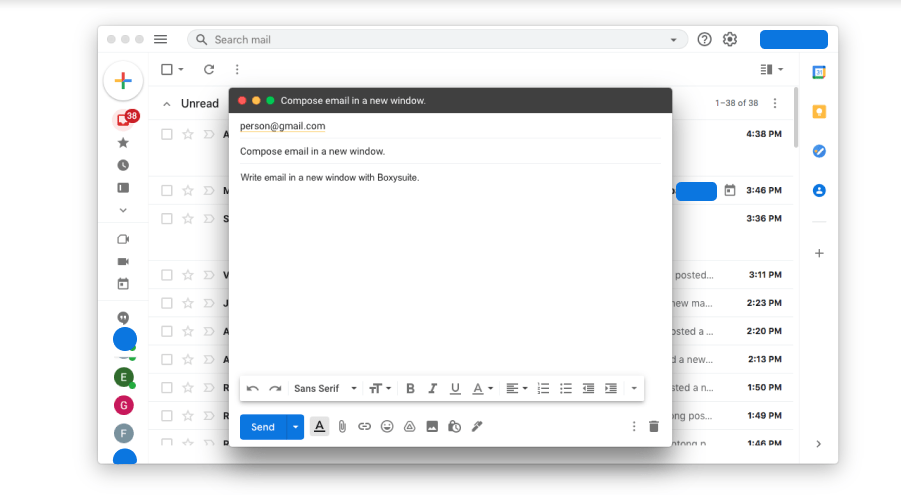 Boxysuite Shortcuts and Dedicated Window