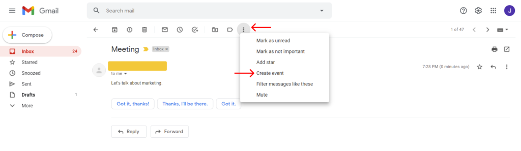 Create Google Calendar Events