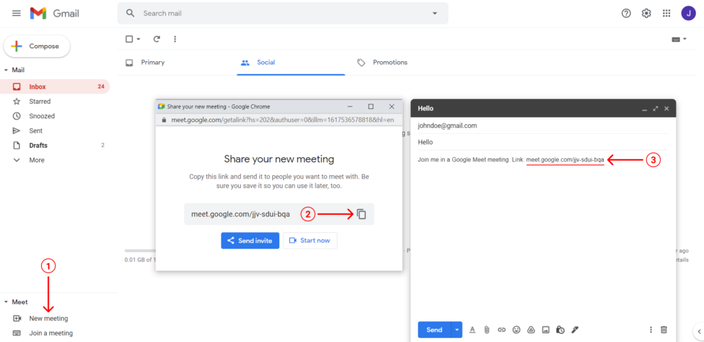google meet with gmail