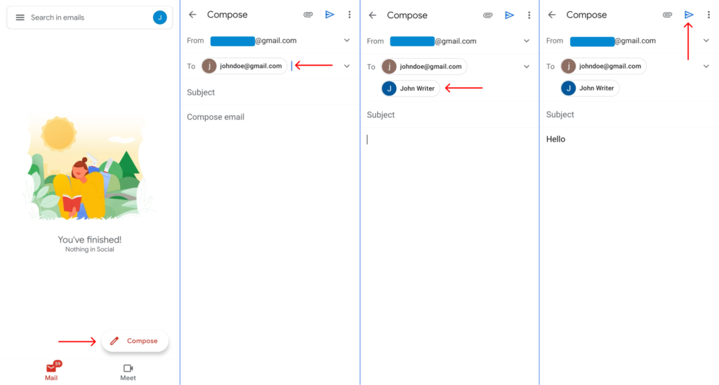 Send Email to Multiple Recipients on Gmail Android / iPhone