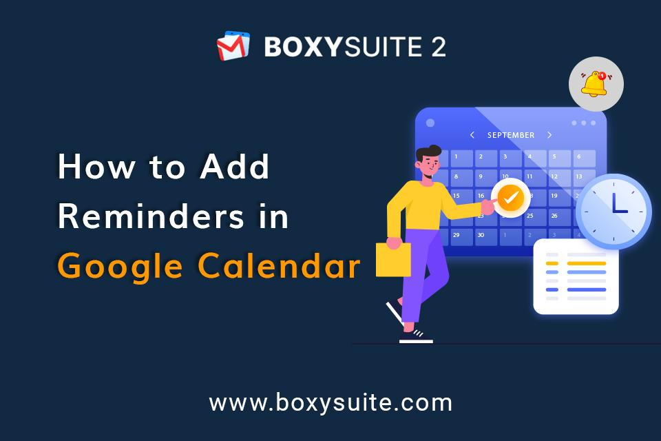 How to add reminder in Google calendar?